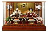 雛人形 ケース飾り 親王飾り 平安義正 三五親王 パノラマ ケース ケヤキ h273-sm-27-3-5