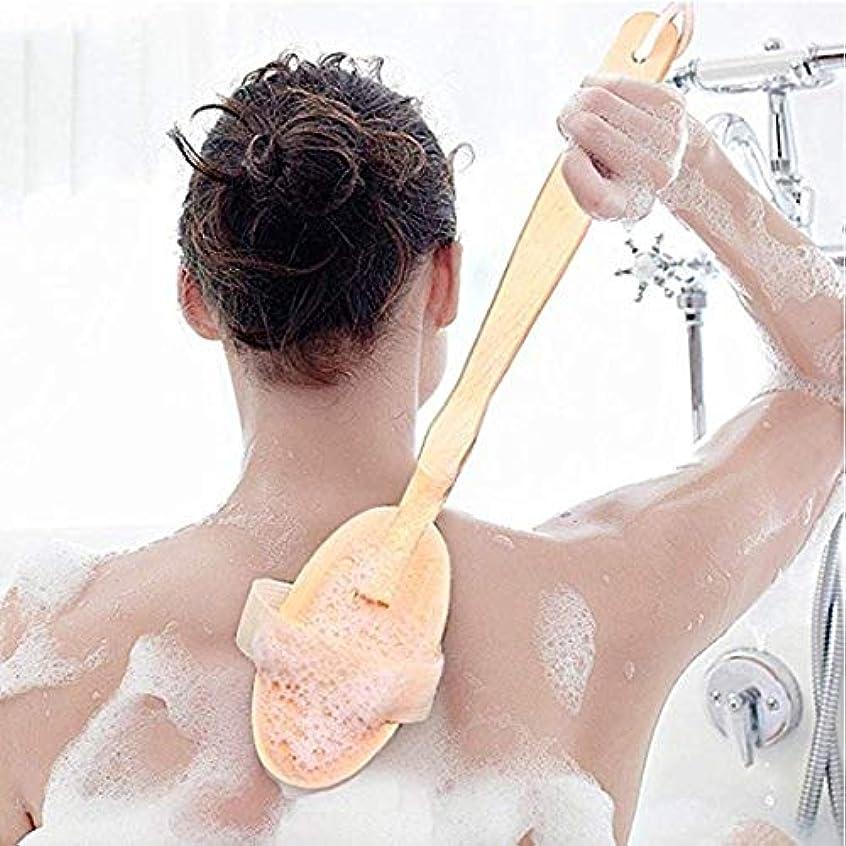縁石渇きブレンドicey 木製 長柄 入浴ブラシ お風呂の神器 ブラシ 入浴ブラシ ブタのたらいブラシ 軟毛 背中をこす 背中長柄ボディブラシ高級木製豚毛入浴ブラシ美肌効果むくみ改善
