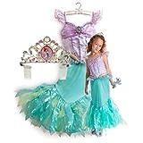 新作 ディズニープリンセス Disney Princess Ariel Costume Tiara 2013 子供 キッズ 衣装 コスチューム & ティアラ 2点セット リトル・マーメイド アリエル 120 130 Mサイズ 6-8歳