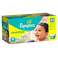 Pampers Swaddlers Diapers Size 4, 104 Count by Pampers