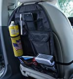 Mercury 小物整理! 座席後部に架けるだけ小物入れ 大容量 シートバック ヘッドレストに簡単取り付け 車載 収納 ポケット クルポケ