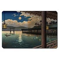 浮世絵 捺印マット UNM-14002 土屋光逸 - 夏の月 宮島
