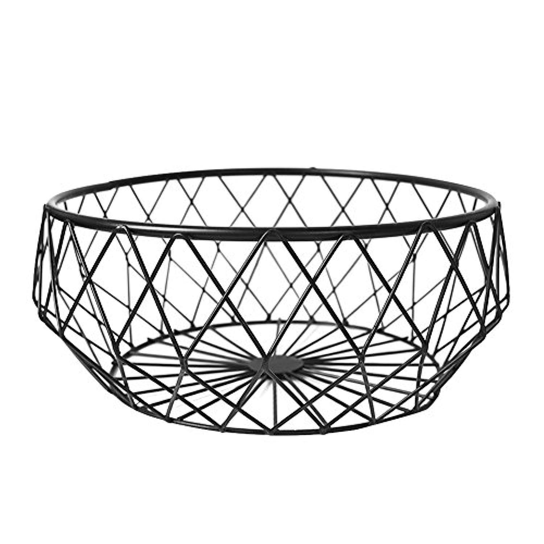 北欧 錬鉄製のフルーツバスケットリビングルームフルーツボウルホームクリエイティブストレージバスケットフルーツボウルスナックプレート