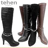 [テーン マドラス] tehen 靴 レディース ブーツ TN6465 BLA-S 22.0cm