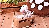 eSmart Itazura貯金箱保存ボックス自動Stealing Coin犬子犬空腹食べる犬コインペニーセントお金ボックスKid子Present Gift