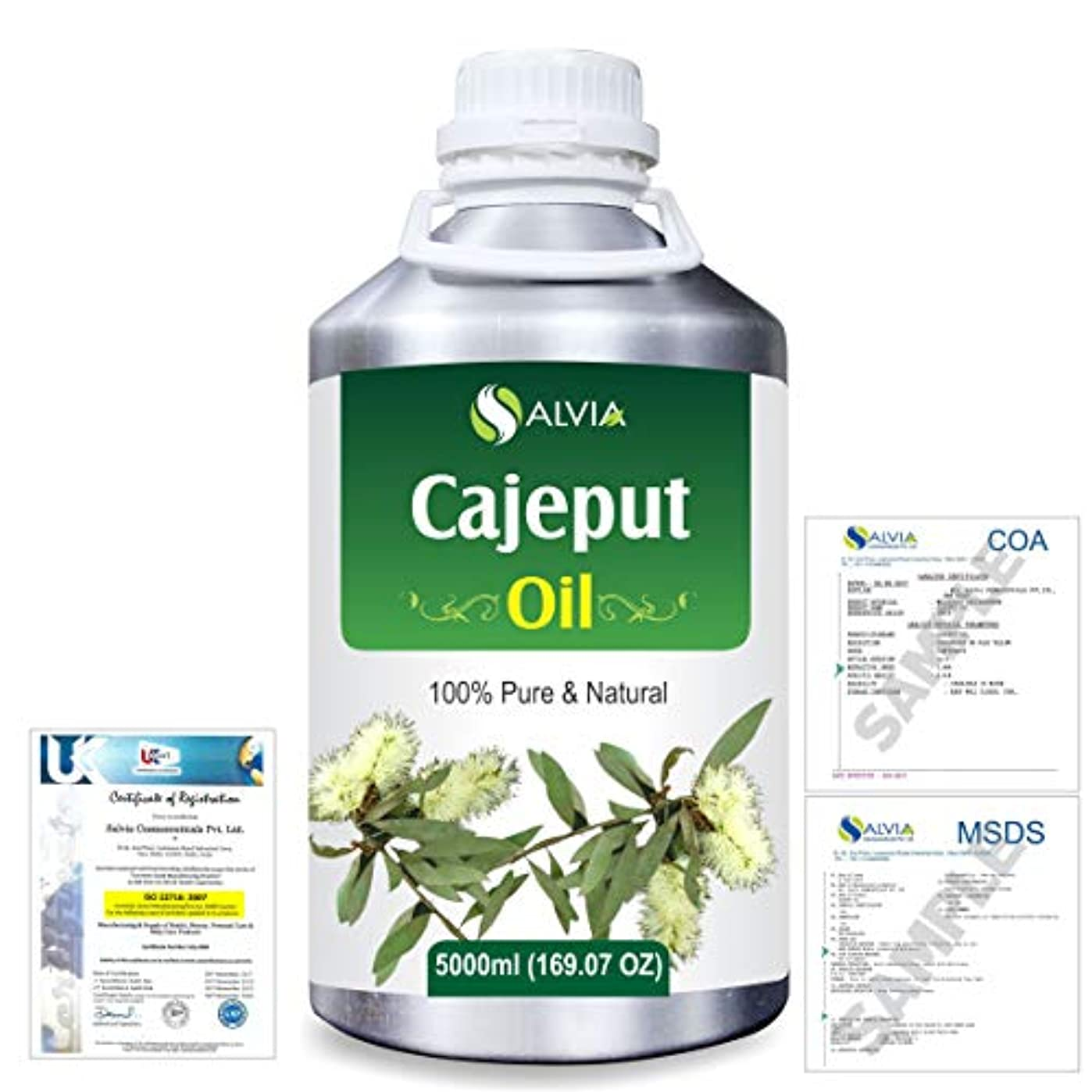 報いる好きである受賞Cajeput (Melaleuca leucadendron) 100% Natural Pure Essential Oil 5000ml/169fl.oz.