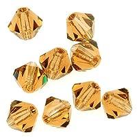 Preciosa Czech Crystal Bicones Glass Beads 4mm 'Lt Colorado Topaz' (50)