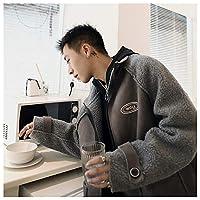 コート ボアジャケット メンズ グレー Mサイズ [並行輸入品]