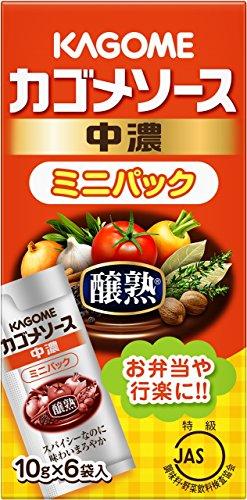 カゴメ 醸熟ソース ミニパック 中濃 10g×6×10箱