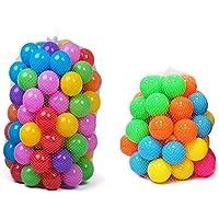 Kuke 20/50/100pcs セフティーボール 海洋球プール カラーボール おもちゃボール 子供のおもちゃ やわらかポリエチレン製 直径5.5cm size 20PCS (colerful)