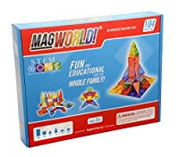 MagWorld Toys Rainbow Magnetic Construction Set (104 Piece) by MagWorld Toys