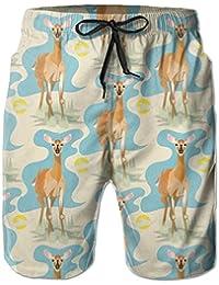 奈良の鹿 メンズ サーフパンツ 水陸両用 水着 海パン ビーチパンツ 短パン ショーツ ショートパンツ 大きいサイズ ハワイ風 アロハ 大人気 おしゃれ 通気 速乾