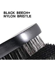 1pc Beard Brush For Men Facial Face Massager Nylon Hair Shaving Brush Wood Handle Massage Cleaner Comb