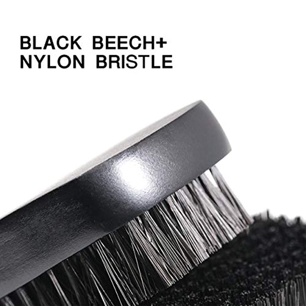1pc Beard Brush For Men Facial Face Massager Nylon Hair Shaving Brush Wood Handle Massage Cleaner Comb