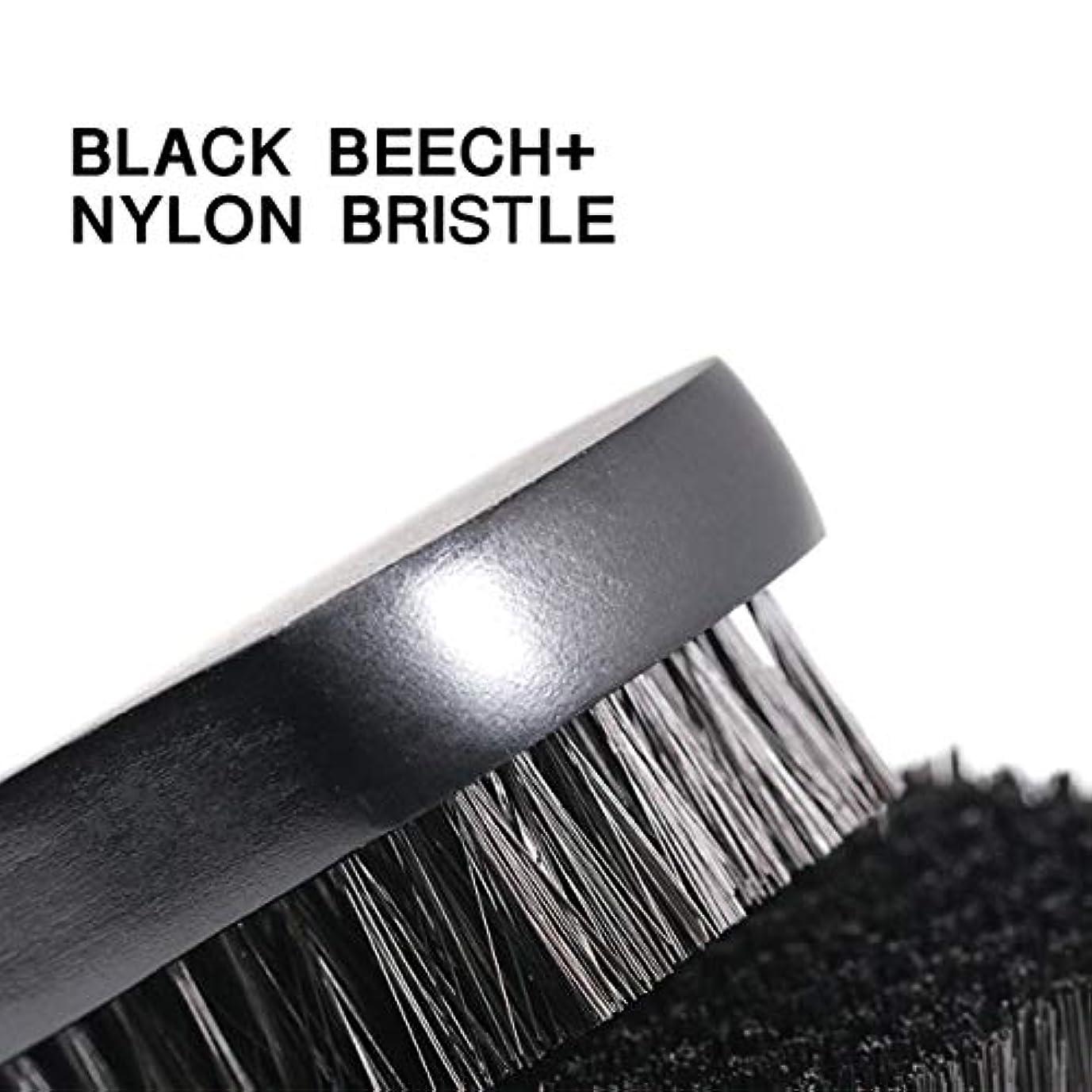 最小化する脅かす著者1pc Beard Brush For Men Facial Face Massager Nylon Hair Shaving Brush Wood Handle Massage Cleaner Comb