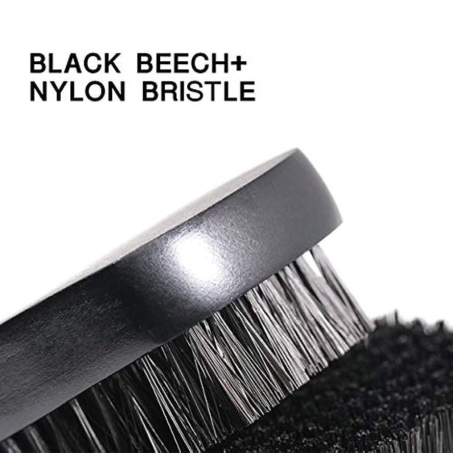 いつもミス外部1pc Beard Brush For Men Facial Face Massager Nylon Hair Shaving Brush Wood Handle Massage Cleaner Comb
