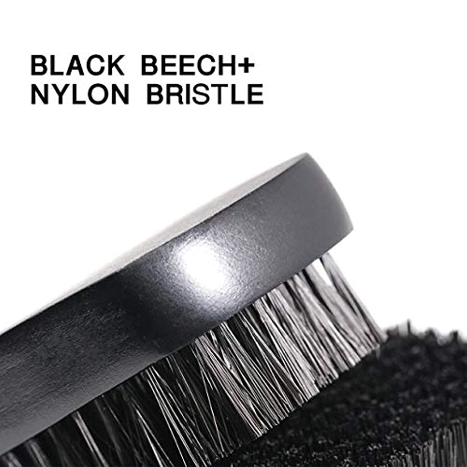 冷酷な肩をすくめるカーフ1pc Beard Brush For Men Facial Face Massager Nylon Hair Shaving Brush Wood Handle Massage Cleaner Comb