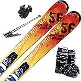 スキー5点セット SWALLOW 16-17 ROTACION QUEAIRS 170cm XPRESS 10 ブーツ26cm ストック120cm メンズグローブ ワクシング施工