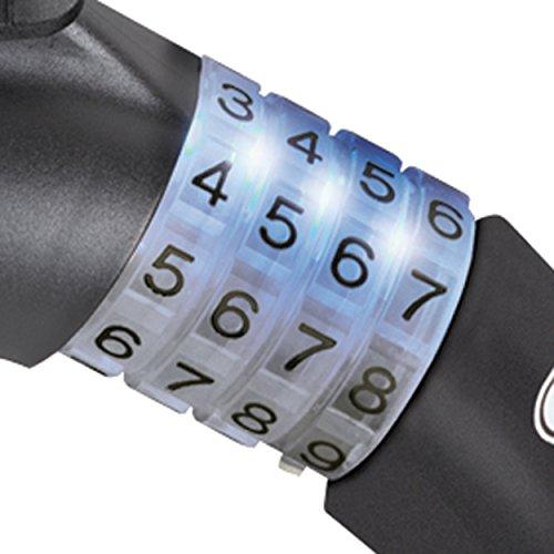 Abus Steel-o-flex Raydo Pro 1460/85 Câble-antivol à combinaison + Support de fixation TExKF Noir
