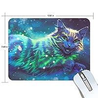 猫 優美 星空 Galaxyspaceマウスパッド ゲーミングマウス ゲームパッド ゲームプレイマット ワイヤレスマウスパッド オフィス最適 高級感 おしゃれ 流行 防水 耐久性が良い 滑り止めゴム底 滑りやすい表面 マウスの精密度を上がる