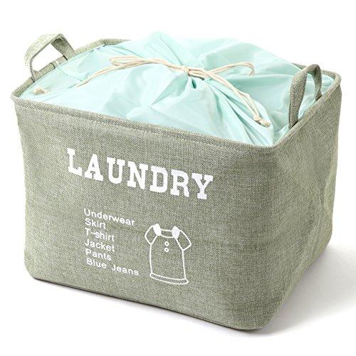 Y.Y.A ランドリーバスケット 洗濯かご 収納ボックス 巾着タイプ