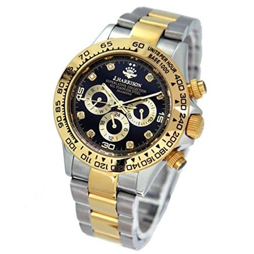本物 人気ブランド 機械式 時計 天然ダイヤモンド [ ジョンハリソン ] 自動巻 腕時計 メンズ ...