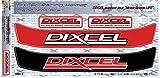 DIXCEL ディクセル ヘルメットバイザーステッカー/HELMET VISOR STICKER (for ARAI helmets) レッド&ブラック [DRHV-2]