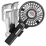 えりかけ扇風機 BodyFan(服の中へ送風可能)クールビズ/ベビーカー兼用 充電池式 携帯扇風機