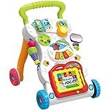 YeahiBaby Baby Kids Walkers Toy Cartoon Walker Stroller Multifunctional Baby Toddler Musical Toy