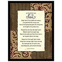 Prayer..My Son Wood Frame Plaque with Easel by Dexsa