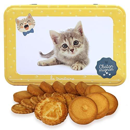 ラ・トリニテーヌ キャッツ イエロー缶(ミニヨン)ネコ ガレット・パレット詰め合わせ
