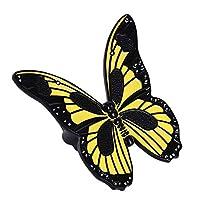 Sperrins レトロバタフライキャビネットドアハンドルキャビネットハンドル家具チェスト引き出し黒黄色
