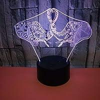 Dtcrzj 動物象3DナイトライトUsb電源カラフルなタッチLedビジュアルライトギフト3D小さなテーブルランプ