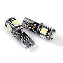 EcloudShop 168 5 SMD LEDサイドウェッジ電球ランプT1O 2 CANBUS