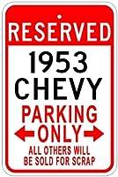 195353Chevyアルミニウム駐車場サイン 10 x 14 Inches CAR1001-00093