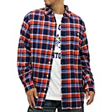 (コスビー) cosby 大きいサイズ シャツ メンズ チェックシャツ 長袖 セット Tシャツ付 ネルシャツ 2color LL レッド