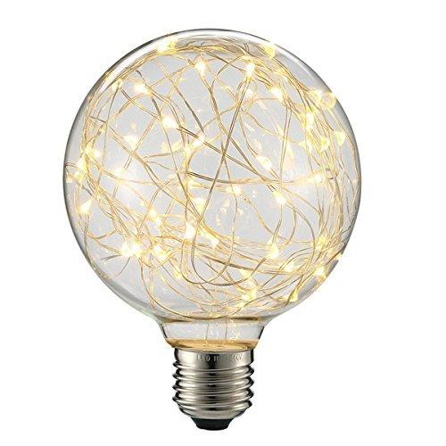 白熱電球 エジソン電球 レフ電球 ガラスライト フィラメント電球 星スタイル レトロ KINGSO 110V E26 G95 3W レトロ ホーム照明 家庭装飾照明用バルブ 調光器非対応