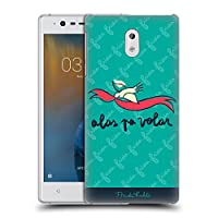 Official Frida Kahlo Wings To Fly ドゥードル ハードバックケース Nokia 3