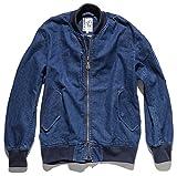 ROCKY デニムMA-1ジャケット ユニセックス デニムジャケット bm-rj0907 ミディアムデニム 3L