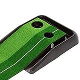 life_mart ゴルフ練習量 パターマット パッティングマット 2ホールタイプ (2M)