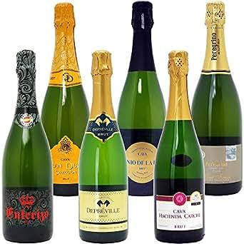本格シャンパン製法だけの厳選泡6本セット(750mlx6本ワインセット)