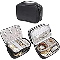 Teamoy Jewelry Travel Case, Jewelry & Accessories Holder Organizer for Necklace, Earrings, Rings, Watch and More, Roomy, Compact and Portable