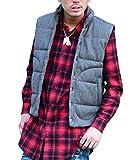 ジョーカーセレクト(JOKER Select) ベスト メンズ ニット カジュアル 中綿ベスト フリース 防寒 ジレ M グレー(ヘリンボーン)