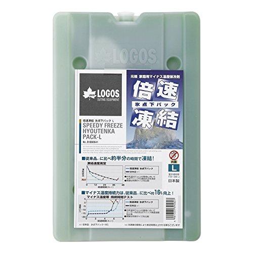 ロゴス 保冷剤 倍速凍結 氷点下パックL 奥行き25.5cm 幅16.4cm 高さ2.6cm