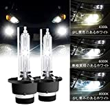 RCP HIDバルブ 車用ヘッドライト D2S/D2R汎用 純正交換 35W Xenon HID 6000K 発光色選択可能 明るさアップ 加工なし 2年保証 RCP-D2C