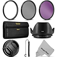 52MM Vivitar UV CPL FLD Filter Kit and Accessory Bundle for Lenses with a 52mm Filter Size [並行輸入品]