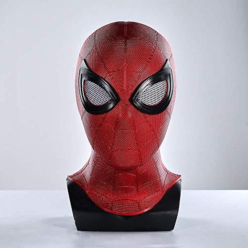 スパイダーマンファーフロムホーム通気性Pvcマスクコスプレアイアンスパイダーマンスーパーヒーローヘルメットマスク帽子フルフェイス3D目付き