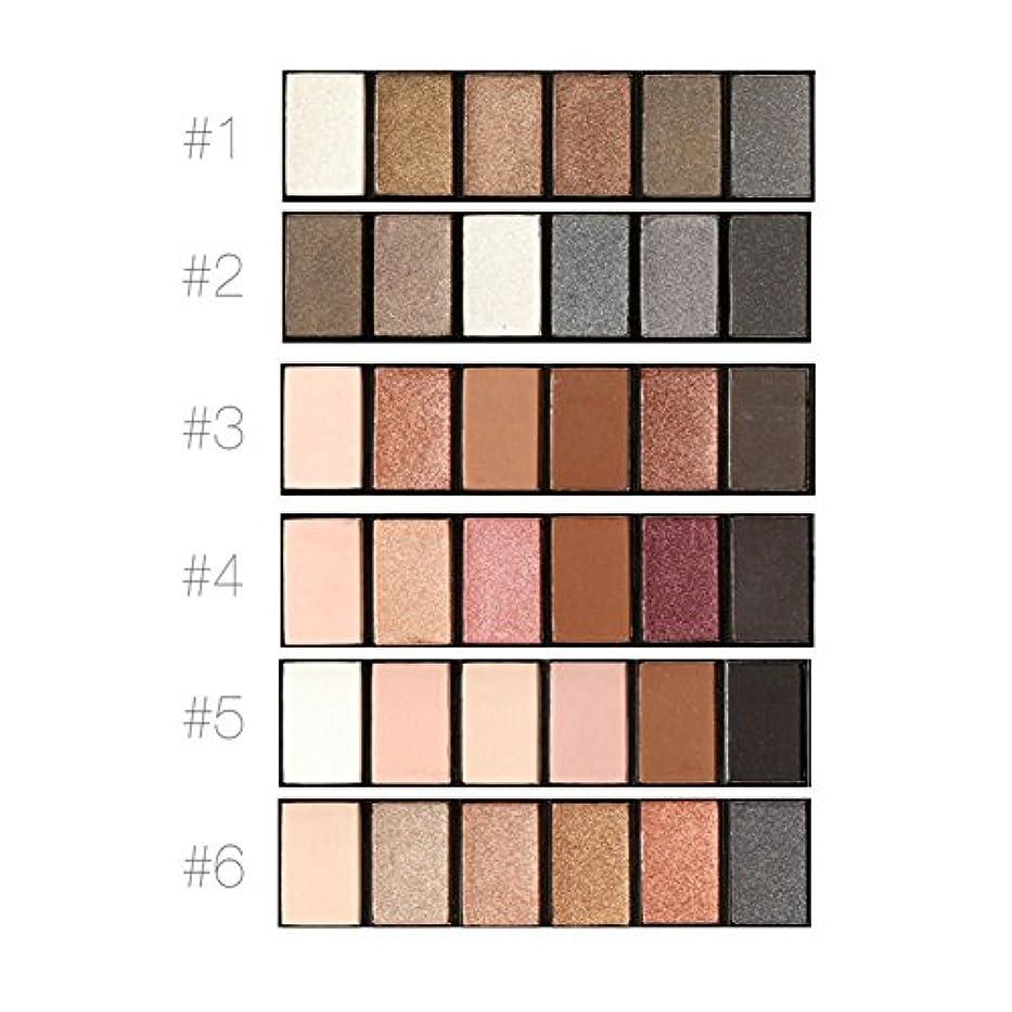 スプリット舗装する濃度アイシャドーパレット、6色化粧シメラーマットメイクロングラスティングスモーキーアイ化粧品セット(#1)