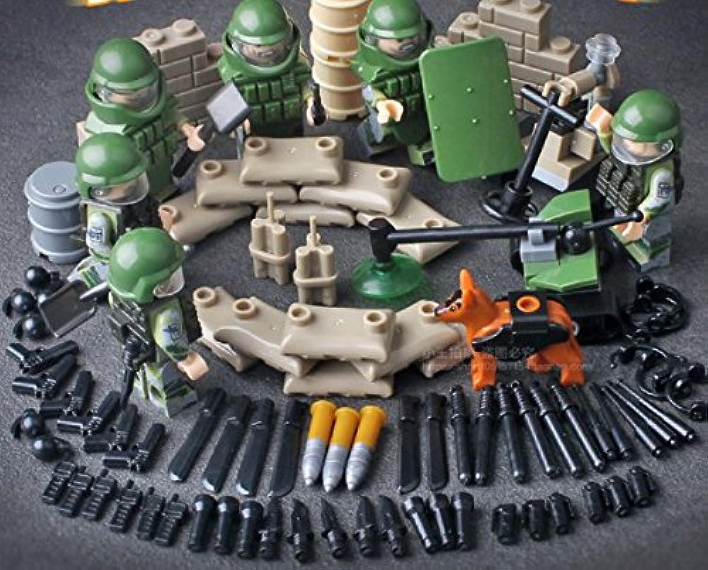 互換あり 陸軍爆弾処理班セット 武器兵装、機雷除去ドローン、機雷探知犬、など
