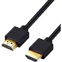 Hanwha HDMIケーブル 1m 細線 4.2mm Ver2.0b スーパースリム ハイスピード 8K 4K 2K対…